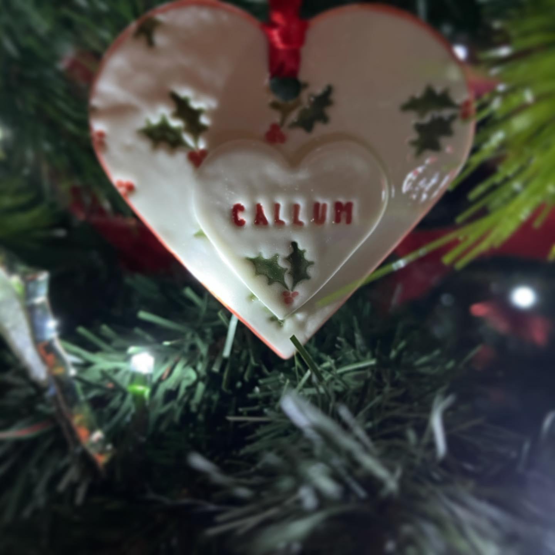 Handmade Christmas decorations Say 'ahhh'
