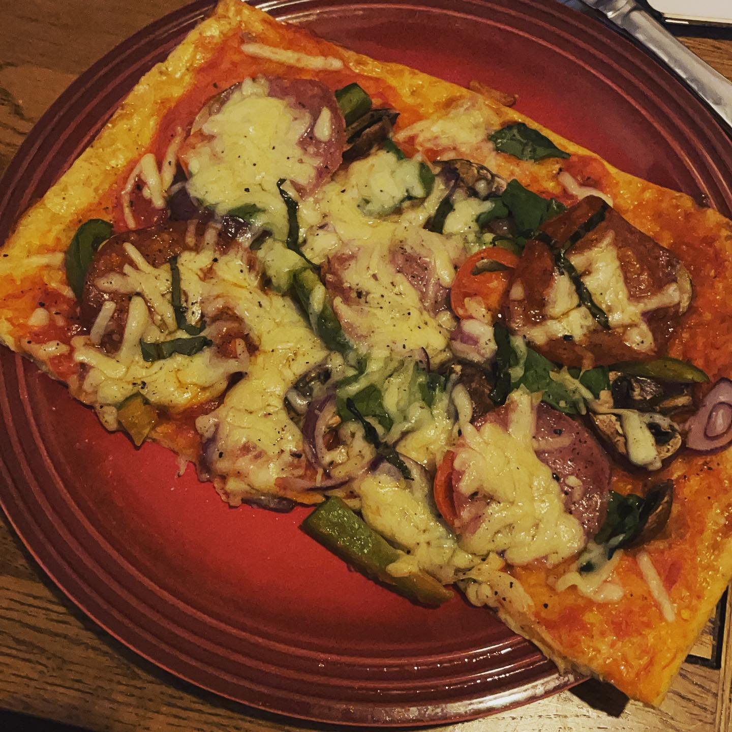 Homemade keto pizza!