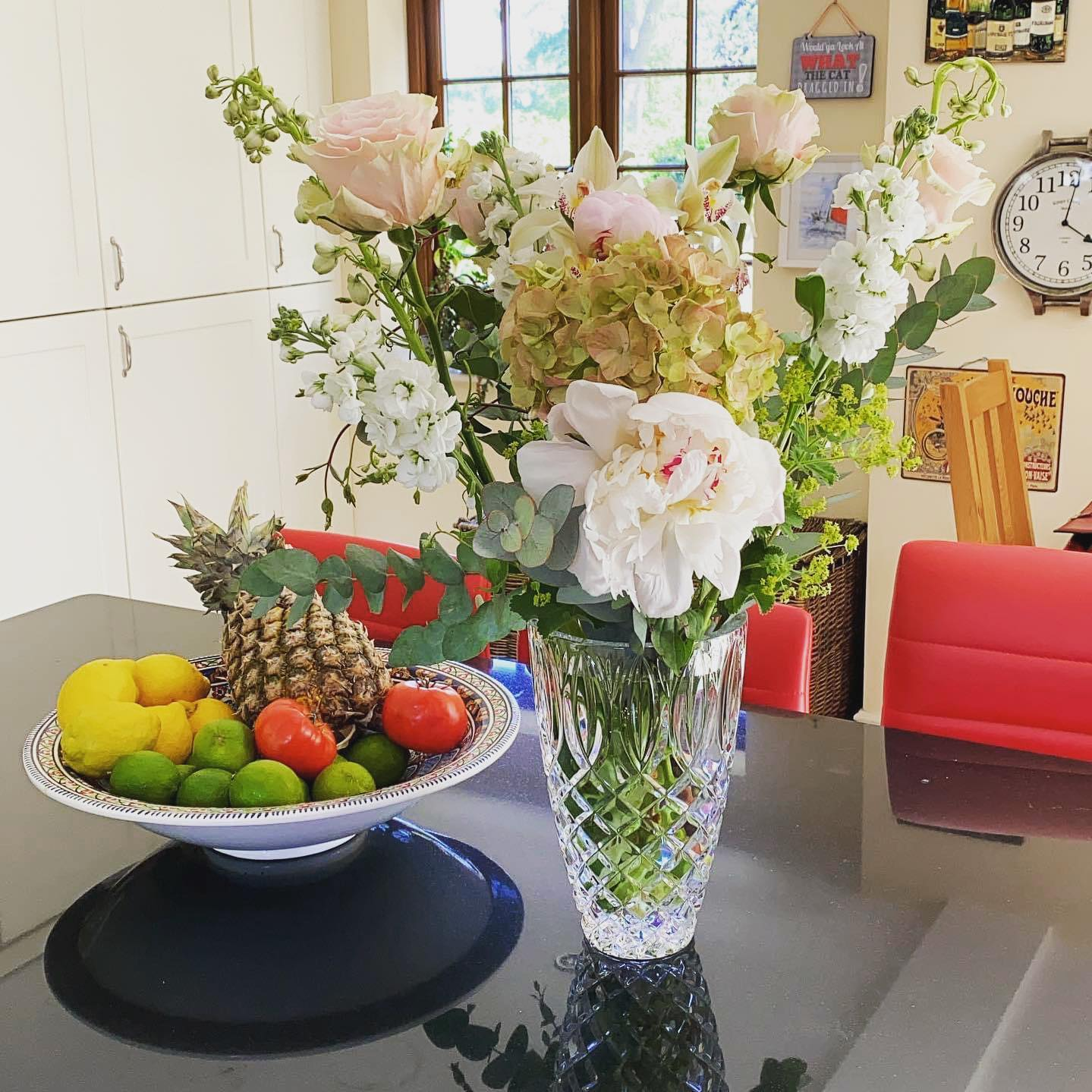 I love when we have flowers in the house.