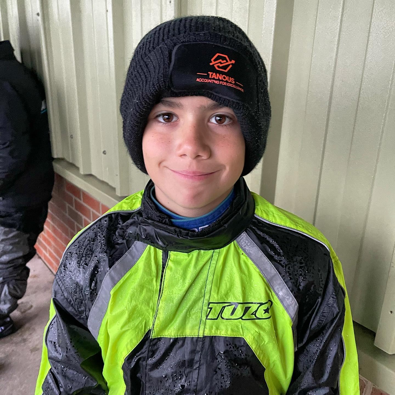Finally met Brendan who we sponsor in the Wera Tools and British Karting Championship.  Nice hat Brendan!